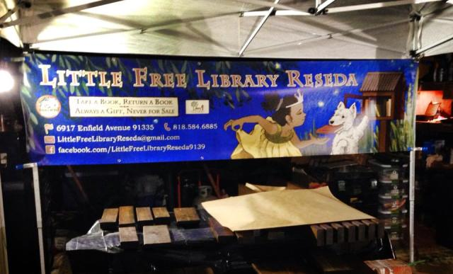 The banner has been printed and now the booth is ready for the event!