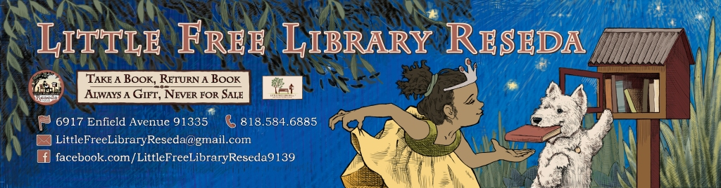 The ten-foot banner design for the Little Free Library Reseda