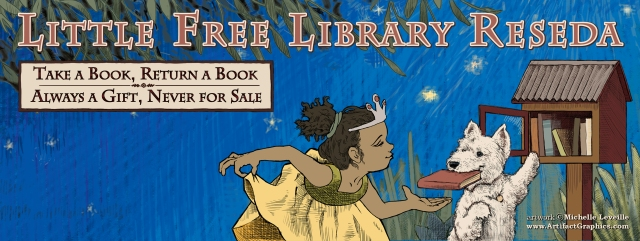 The facebook cover image used by the Little Free Library Reseda